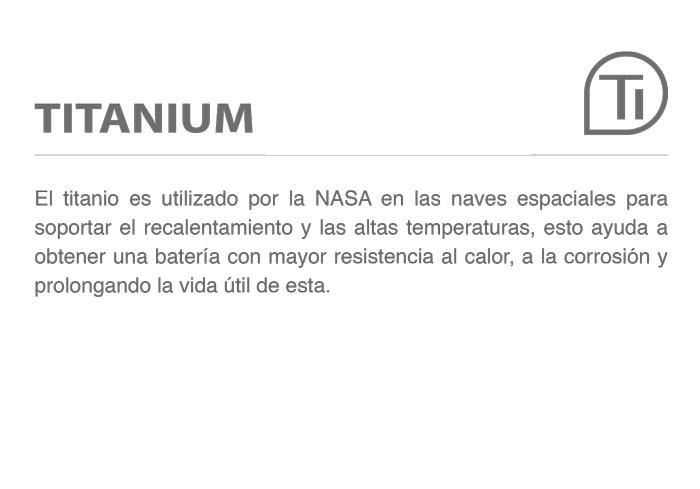 titanium baterias record